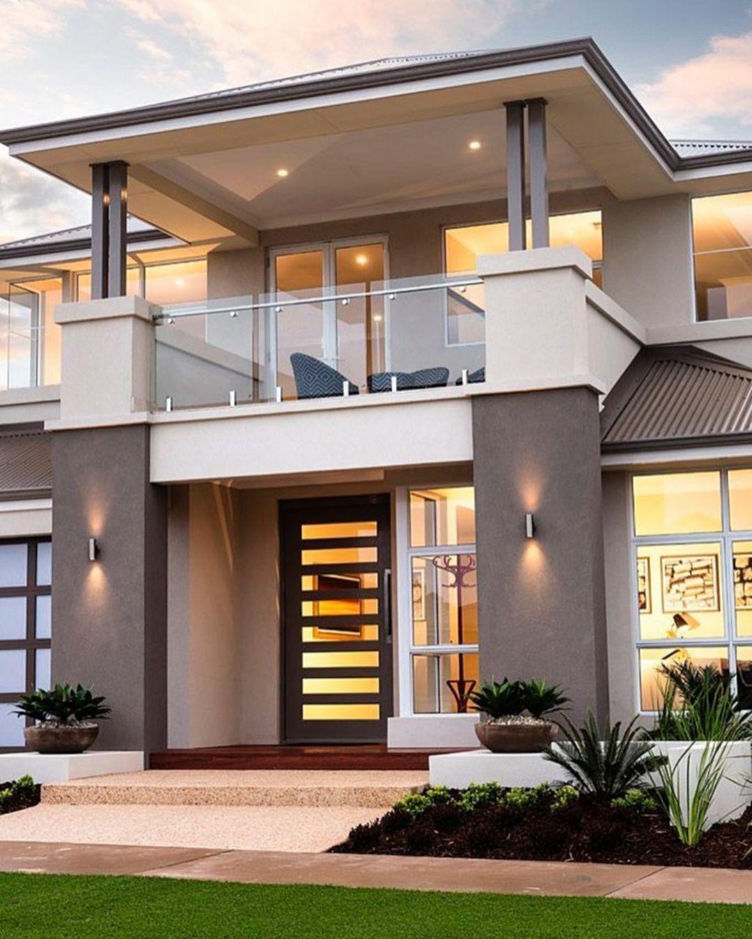 25 Fantastic Luxury Modern House Design Ideas For Live Better Minimalist House Design Facade House House Designs Exterior
