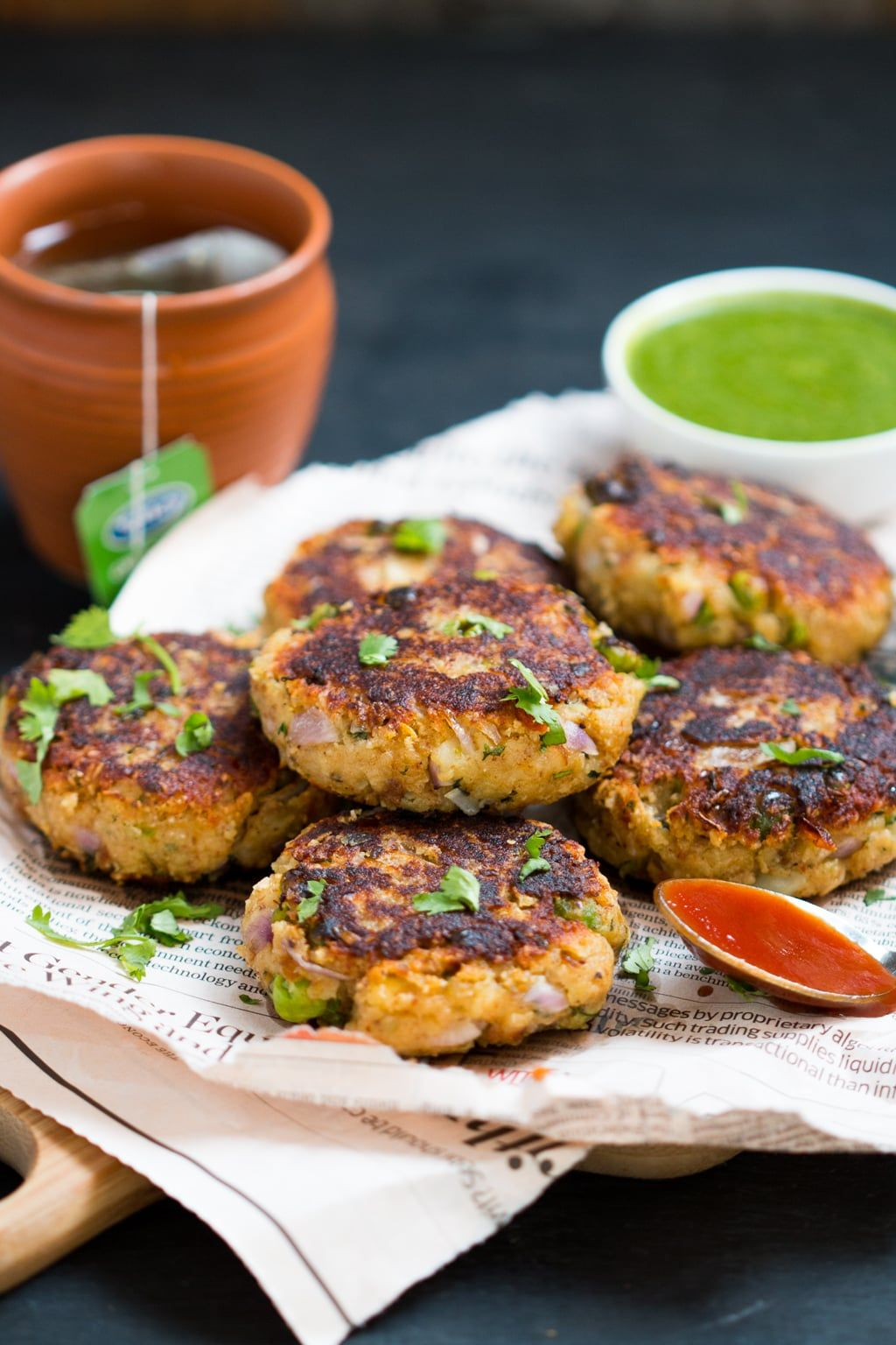 Healthy peas potato paneer tikki recipe indian style food forumfinder Images