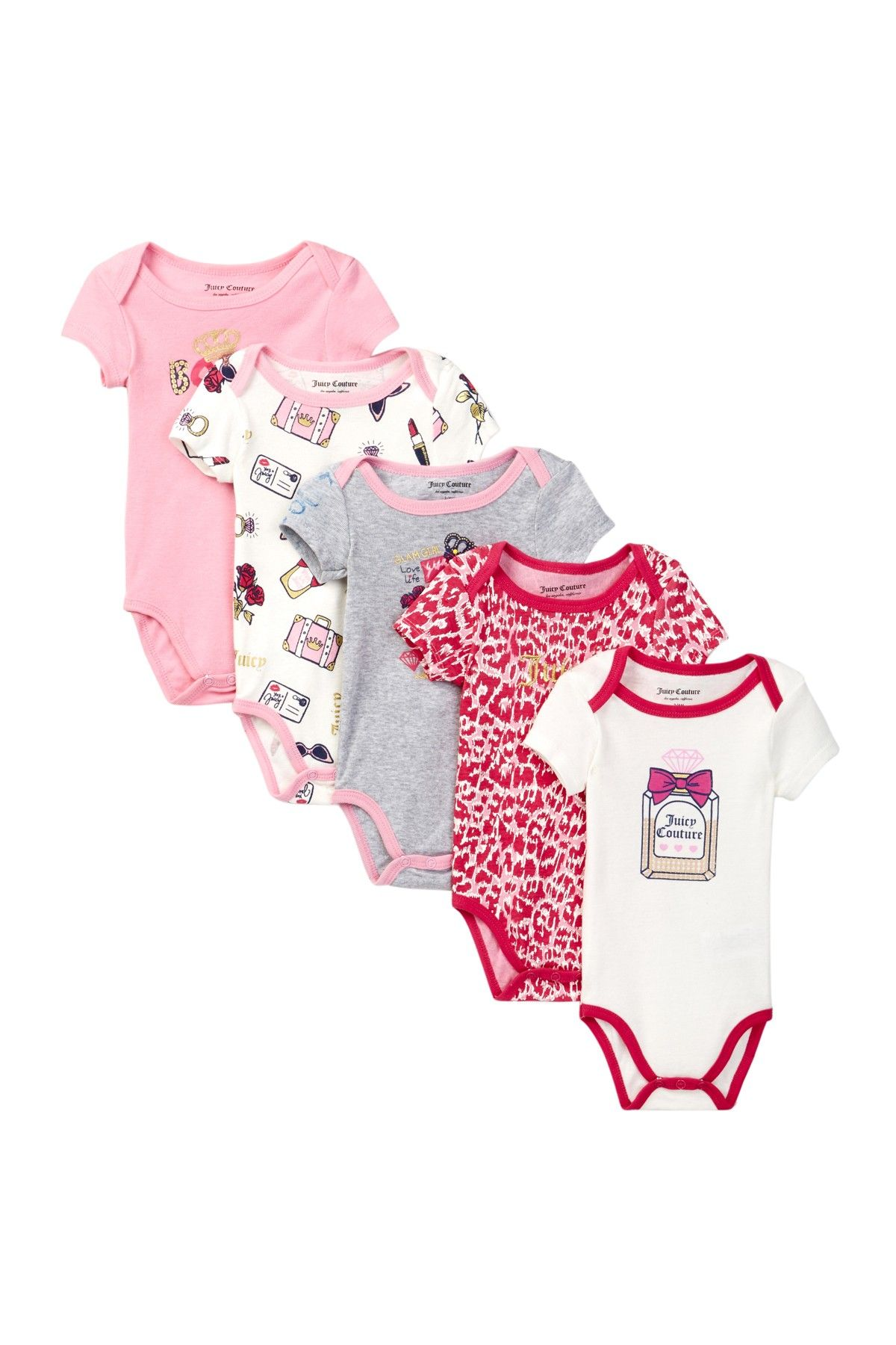 c5c5bfea4 Juicy Princess Bodysuit Set - Pack of 5 (Baby Girls) by Juicy Couture on  @nordstrom_rack