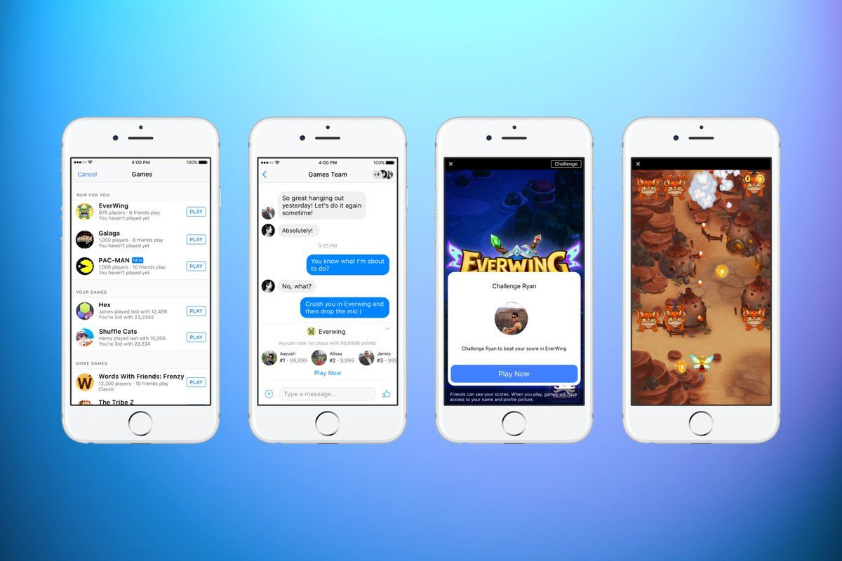 Good News: Now you can play instant games on facebook
