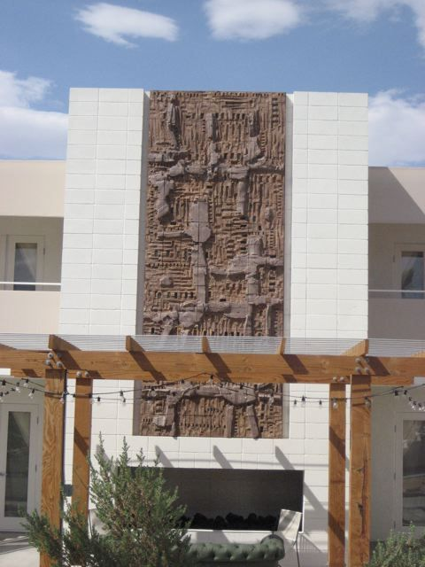 Monumental Wall Piece At The Ace Hotel In Palm Springs By Stan