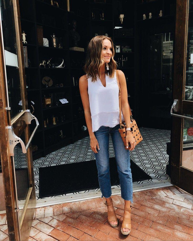 Lauren Sims Instagram Round Up Summer Brunch Outfit Casual Summer Outfits Brunch Outfit [ 1012 x 810 Pixel ]