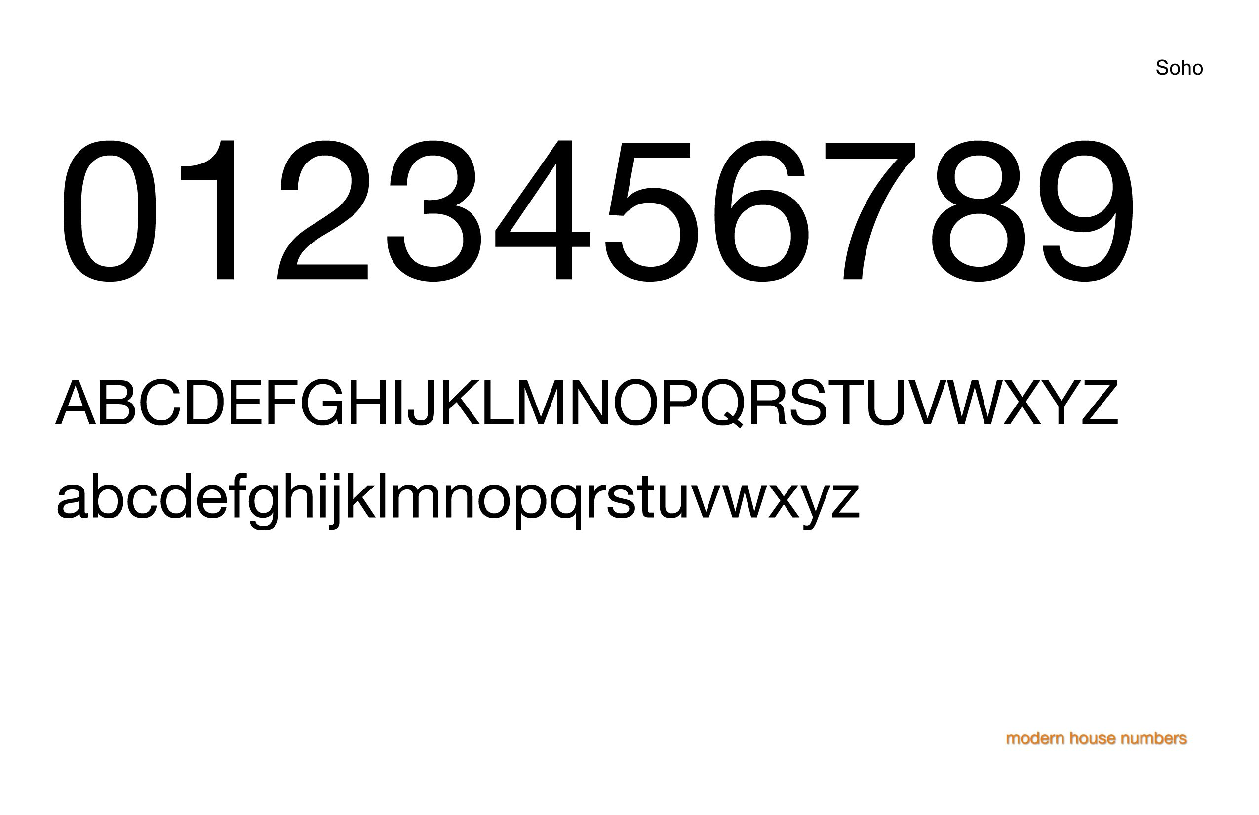 Check out our modern house numbers soho font www modernhousenumbers com