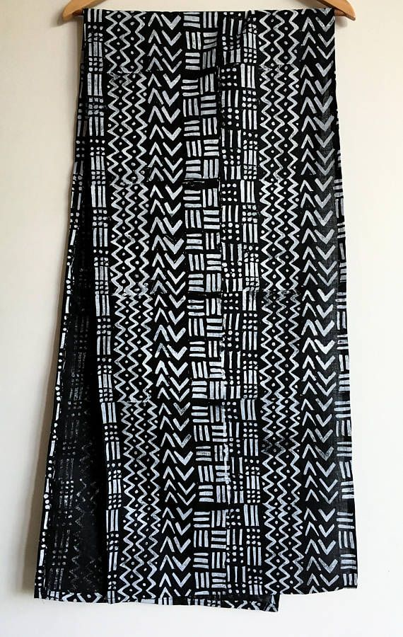 Mud Cloth Inspired Block Printed 72 Quot Linen Table Runner