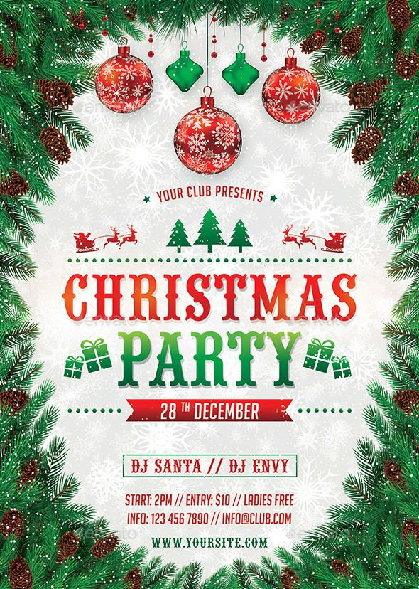 Christmas Party Flyer.Christmas Party Flyer Kanun Novogo Goda Christmas Flyer