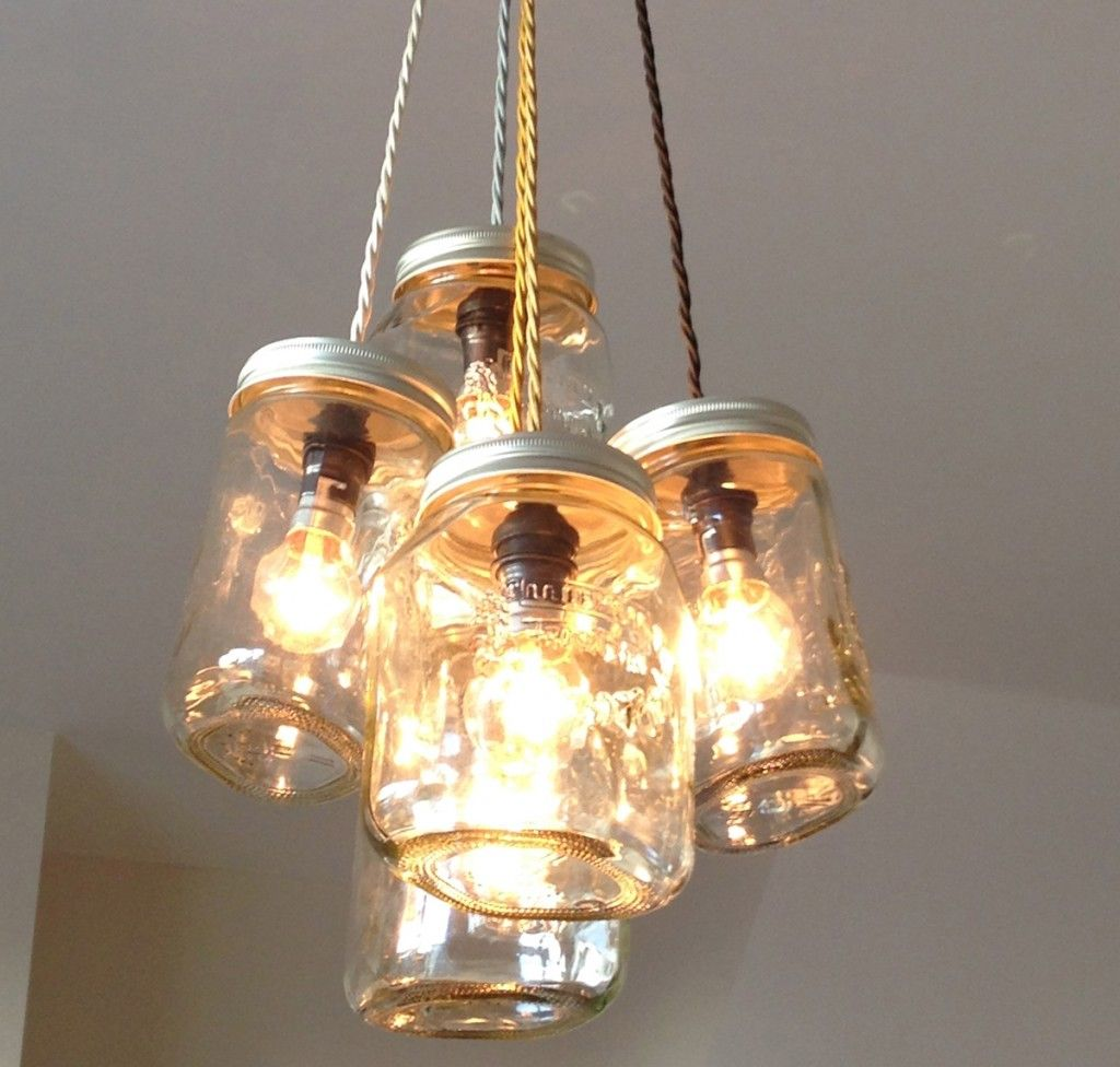 Jam Jar Upcycled Chandelier From The Great Interior Design Challenge Upcycle Recycle Reuse