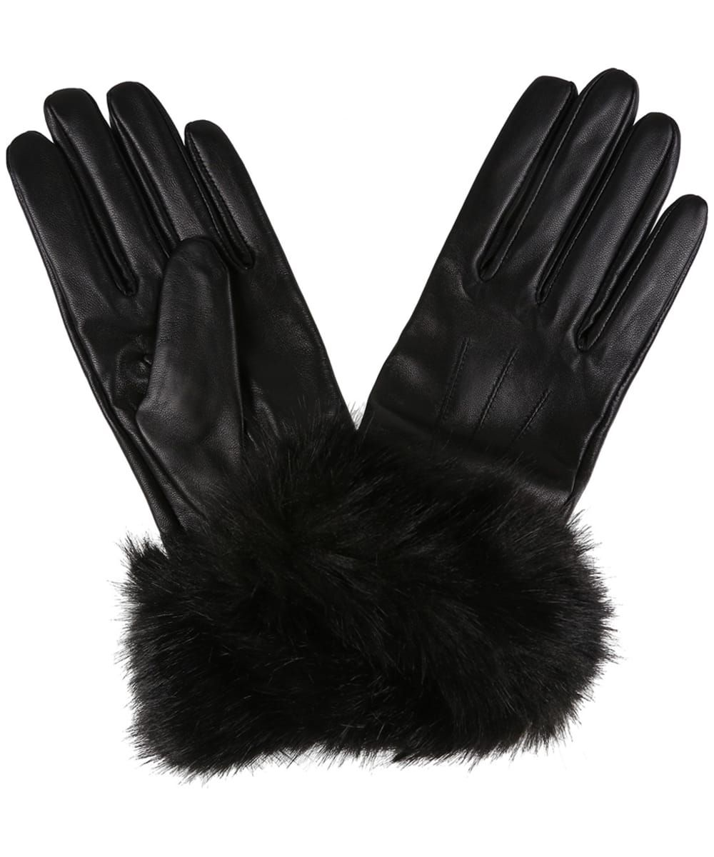 stretch fabric super soft and comfy Fur trim luxury winter gloves