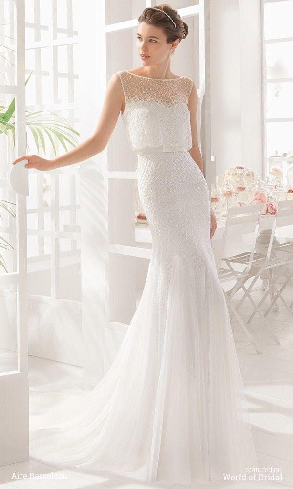 Vestido de novia aire barcelona usado