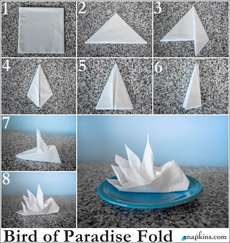 bird of paradise napkin fold how to fold a napkin pinterest servietten falten. Black Bedroom Furniture Sets. Home Design Ideas
