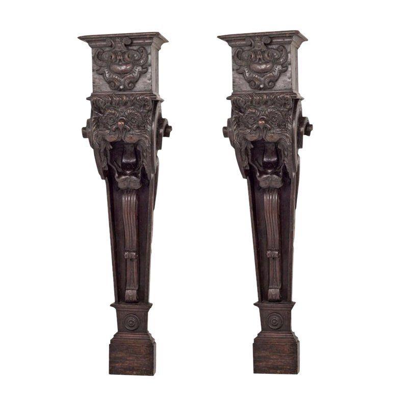 Early 19th Century Italian Baroque Corbels Brackets A Pair Italian Baroque Corbels