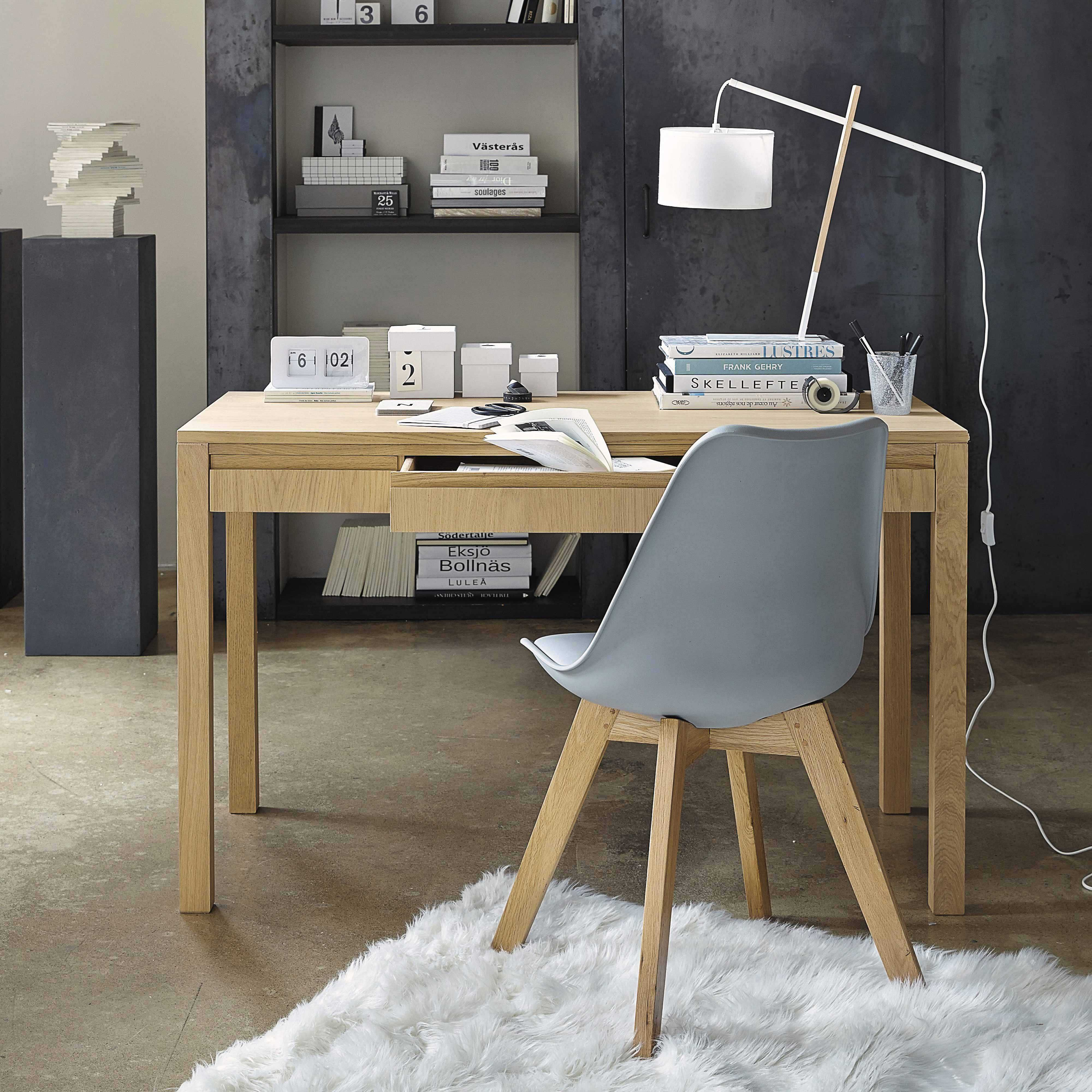 chaise en polypropyl ne et ch ne grise ice maisons du monde sous sol pinterest office spaces. Black Bedroom Furniture Sets. Home Design Ideas