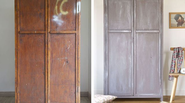 Relooking meuble repeindre et patiner une vieille armoire armoires salons and shabby - Repeindre vieille armoire ...