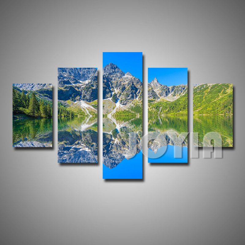 Mountain Photo Canvas Painting Beautiful Landscape Nature Wall Art Poster Prints Morskie Oko Lake Poland Scene Nature Wall Art Canvas Painting Poster Wall Art