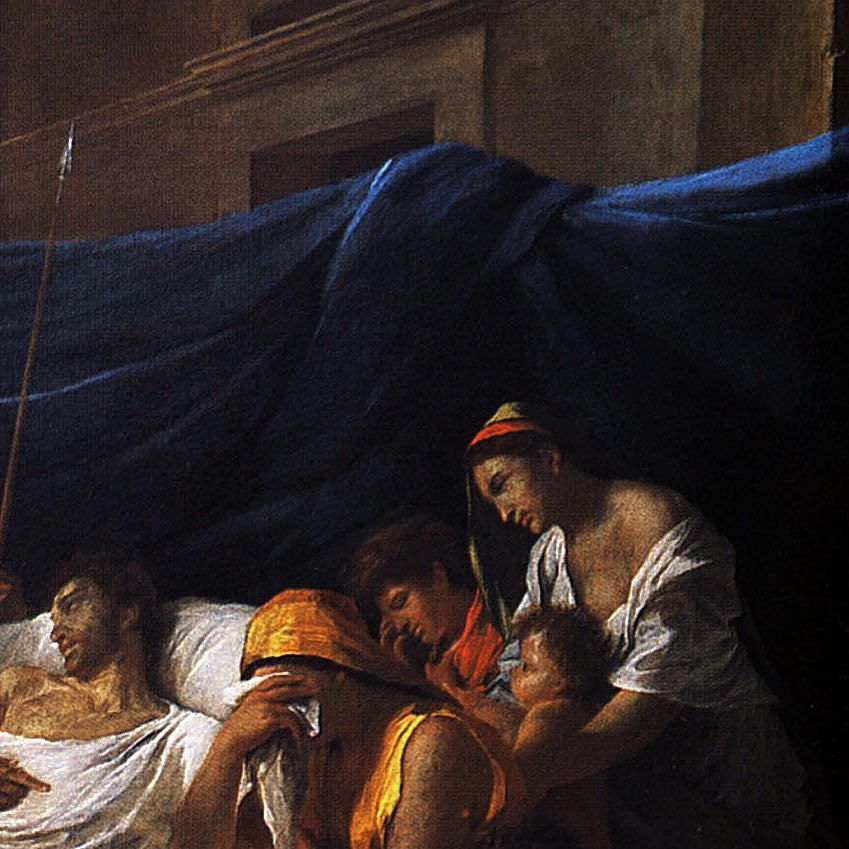 nicolas poussin la mort de germanicus1628 superbe toile du ma tre germanicus. Black Bedroom Furniture Sets. Home Design Ideas