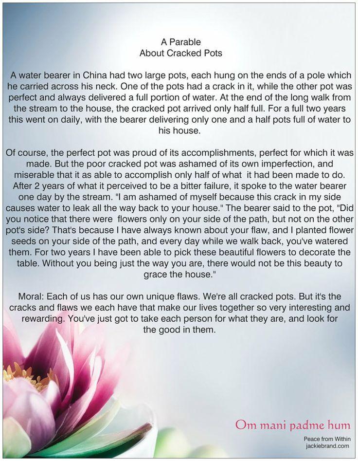 The+Cracked+Vase+Poem | Story.. A Cracked Pot | Gary ...