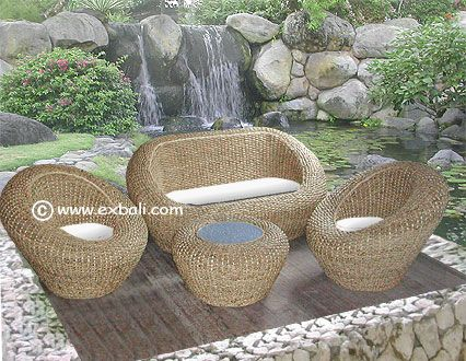 Woven Furniture Bali, Water Hyacinth Furniture