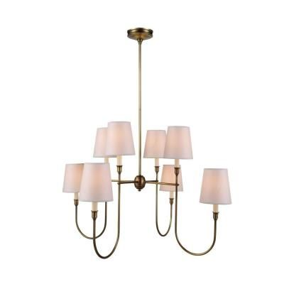 Elegant Lighting Lancaster 8 Light Burnish Brass Pendant