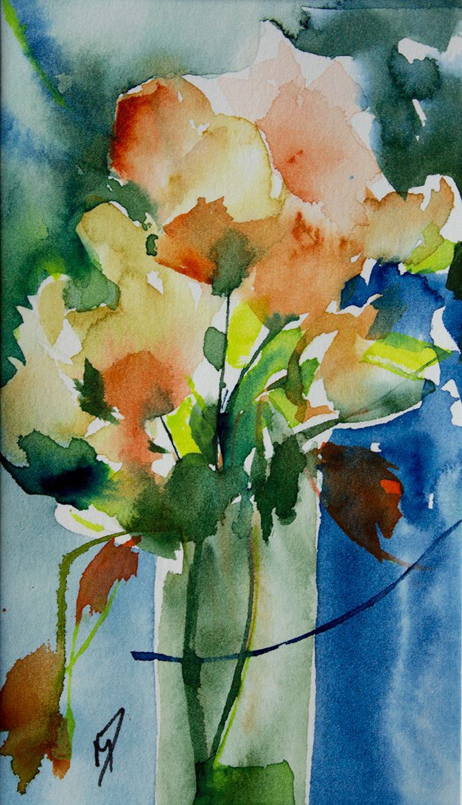 Watercolor Paintingfloral Art Print Abstract Par Nancyknightart