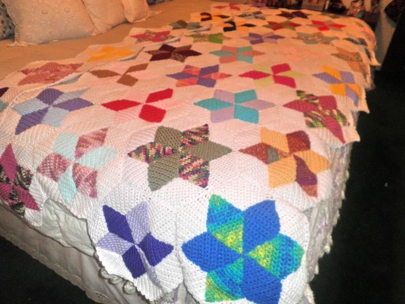 Star Quilt Afghan --- In Progress | Crochet Afghans | Pinterest ... : crocheted quilts - Adamdwight.com