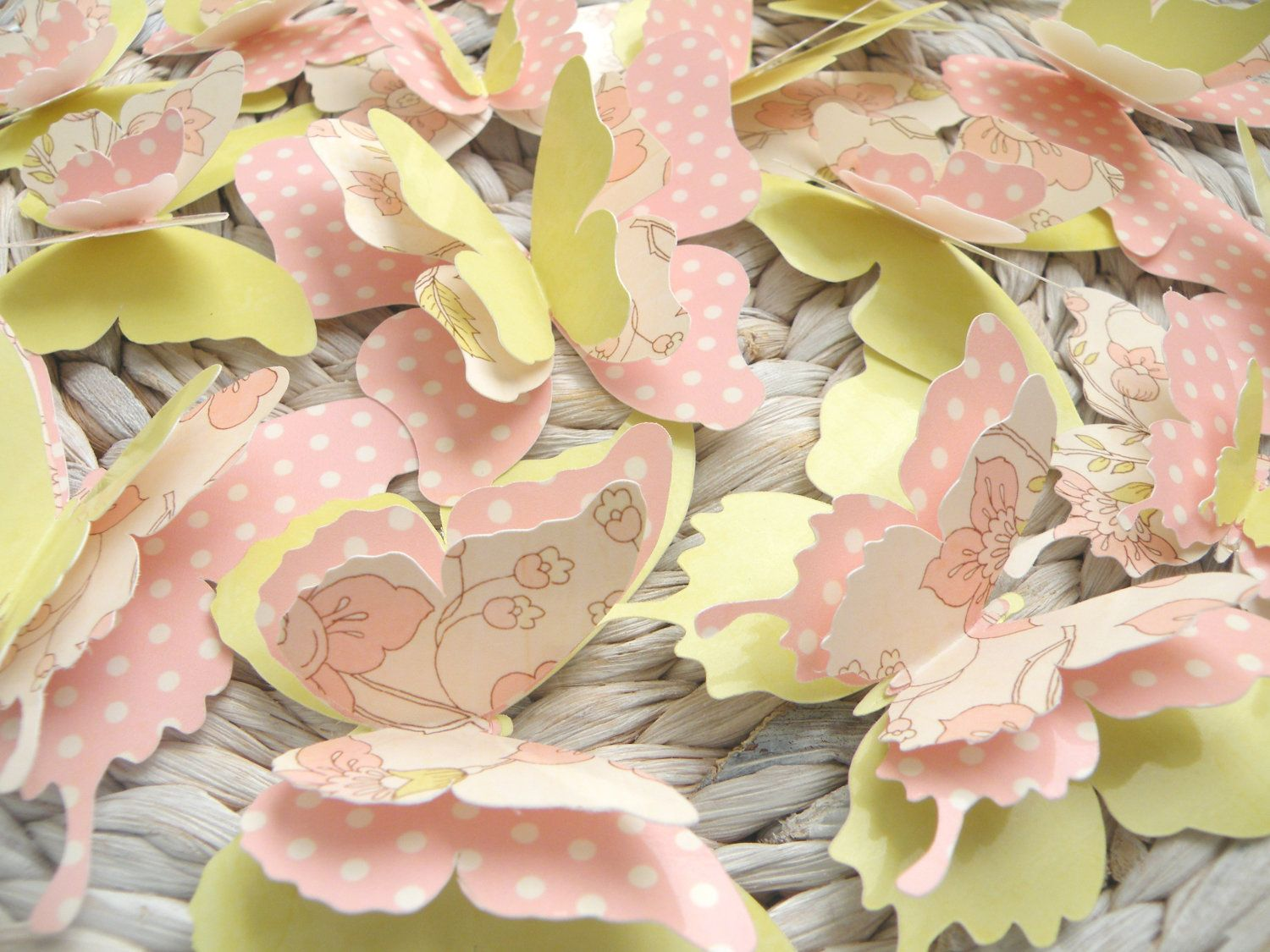 3D Paper Butterfly wall art to decorate Nursery, Children\'s Room ...