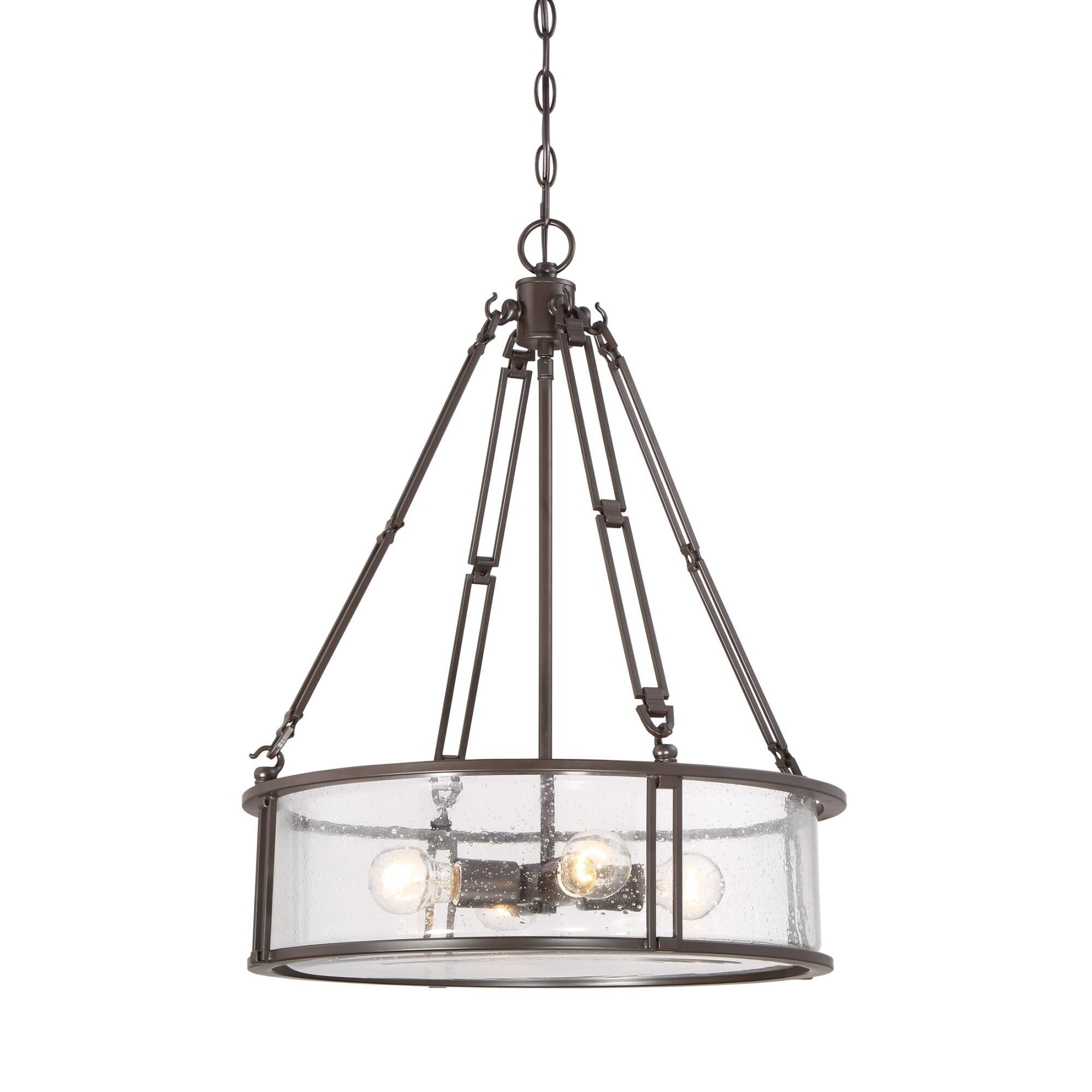 Farmhouse Lighting Pendants Quoizel Buchanan 20 Inch