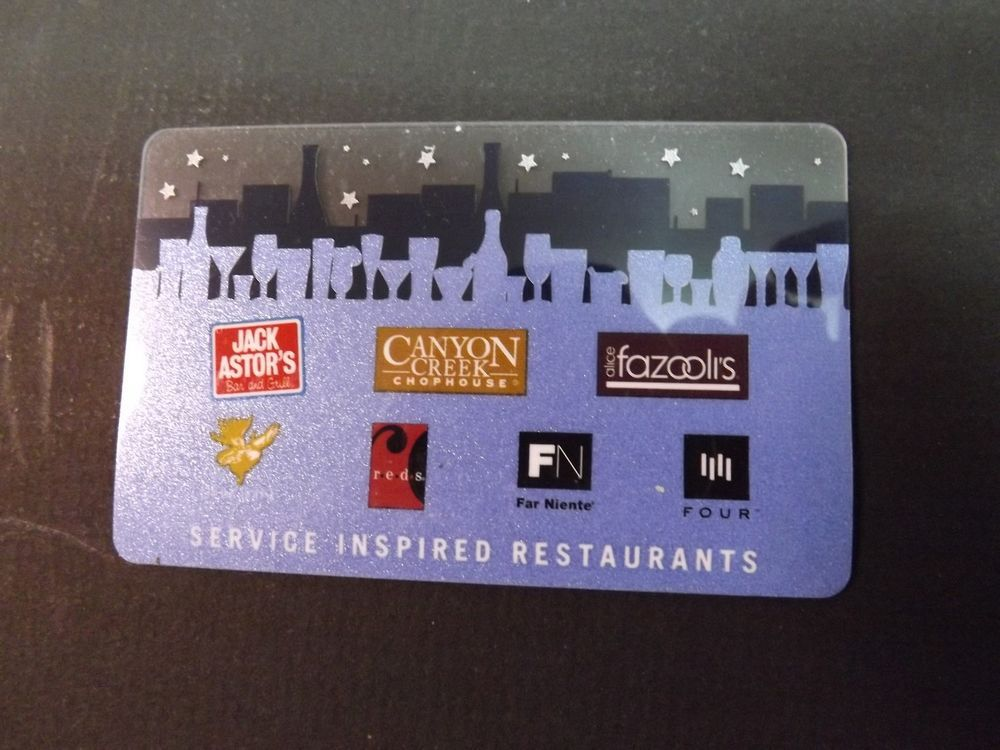 $50 Gift Card - Fazooli s, Canyon Creek, Jack Astor s, Any SIRCORP Restaurant f