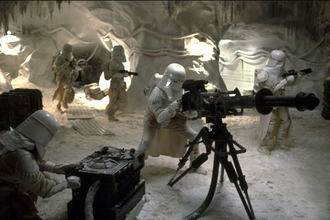 Snowtroopers in the ice caves of Hoth.