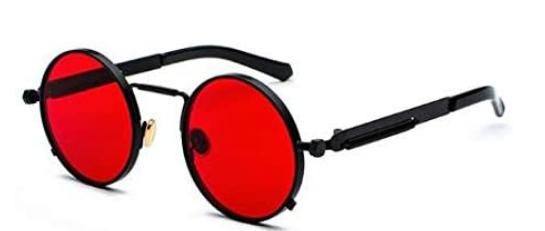 نظارات شمسية رجالية تينيز بإطار معدني دائري Red Sunglasses Red Sunglasses Men Sunglasses