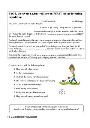 Using The Past Continuous Tense In Stories Esl Pinterest