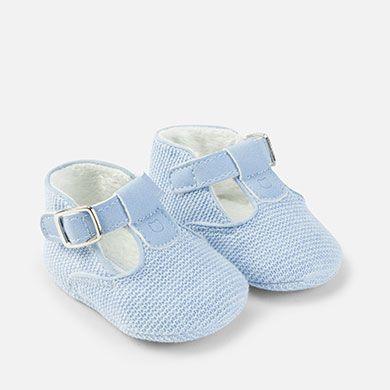 9e2f34ad3 Zapatos pepitos con pelo para bebé niño Celeste vigoré - Mayoral ...