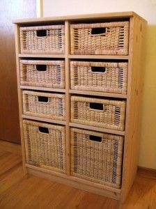 Basket Drawer Unit Diy Custom Make What You Want Using Some Ikea