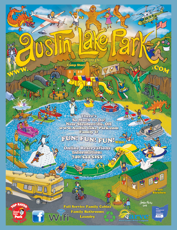 Austin Lake Rv Park And Cabins In Toronto Oh Camping In Ohio Historical Place Lake Austin