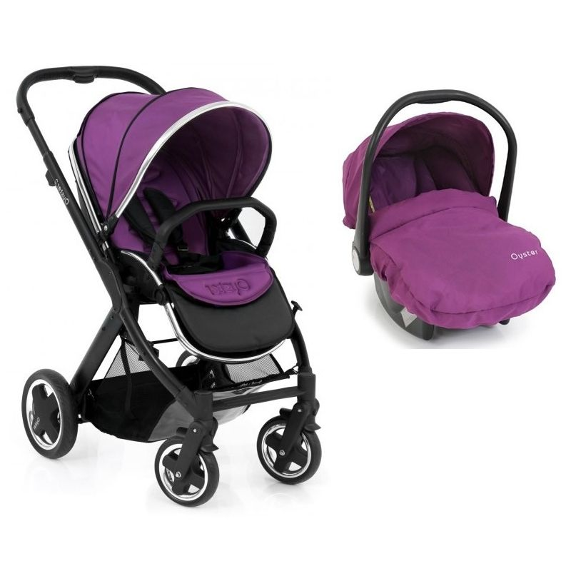 BabyStyle Oyster 2 Black Satin 2in1 Travel SystemGrape