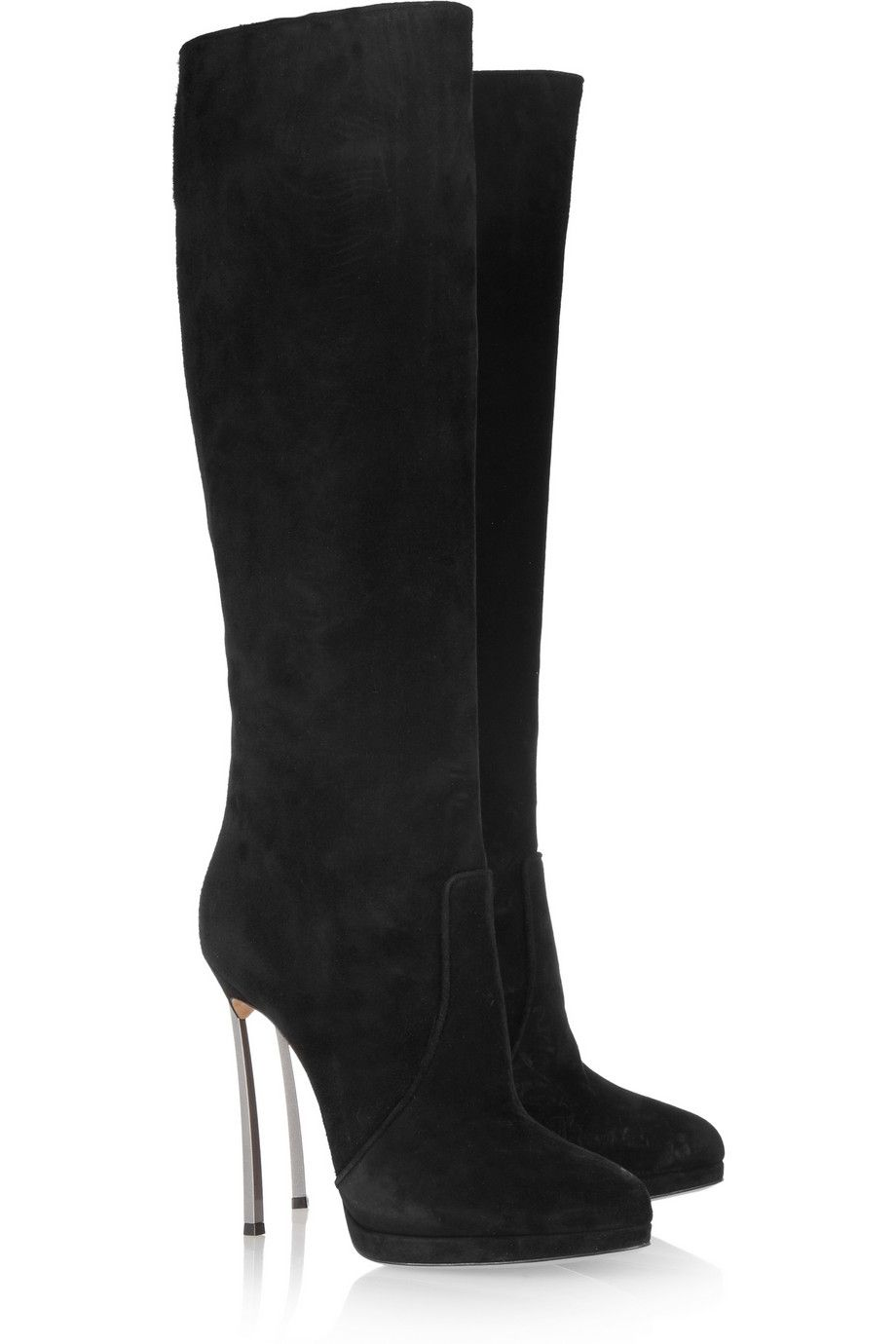 f710f64feb28 CASADEI Suede knee boots