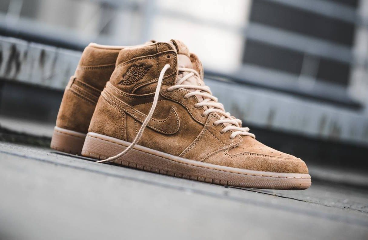 6537a802fbaa Release Reminder  Air Jordan 1 High Wheat
