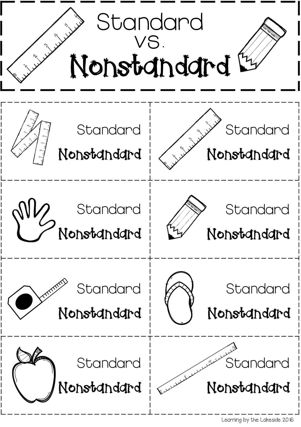Standard Vs Nonstandard Measurement