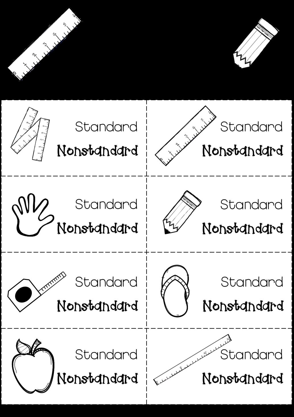 Standard Vs Nonstandard Measurement
