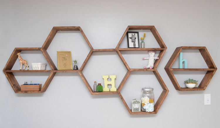 Honeycomb Shelves Nursery