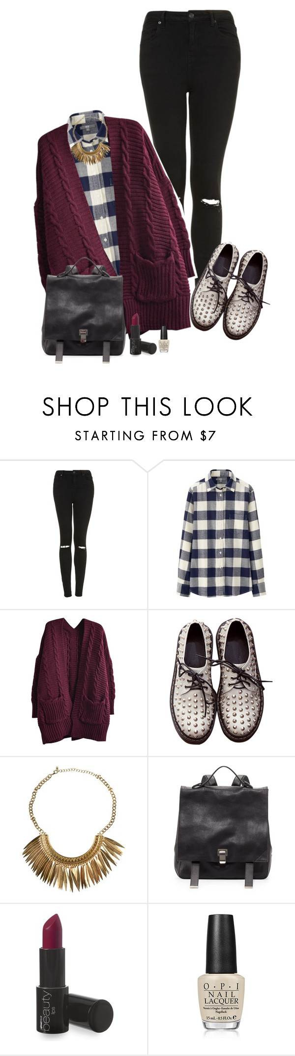 Those shoes by anamfs on Polyvore featuring Uniqlo, Topshop, Proenza Schouler and OPI