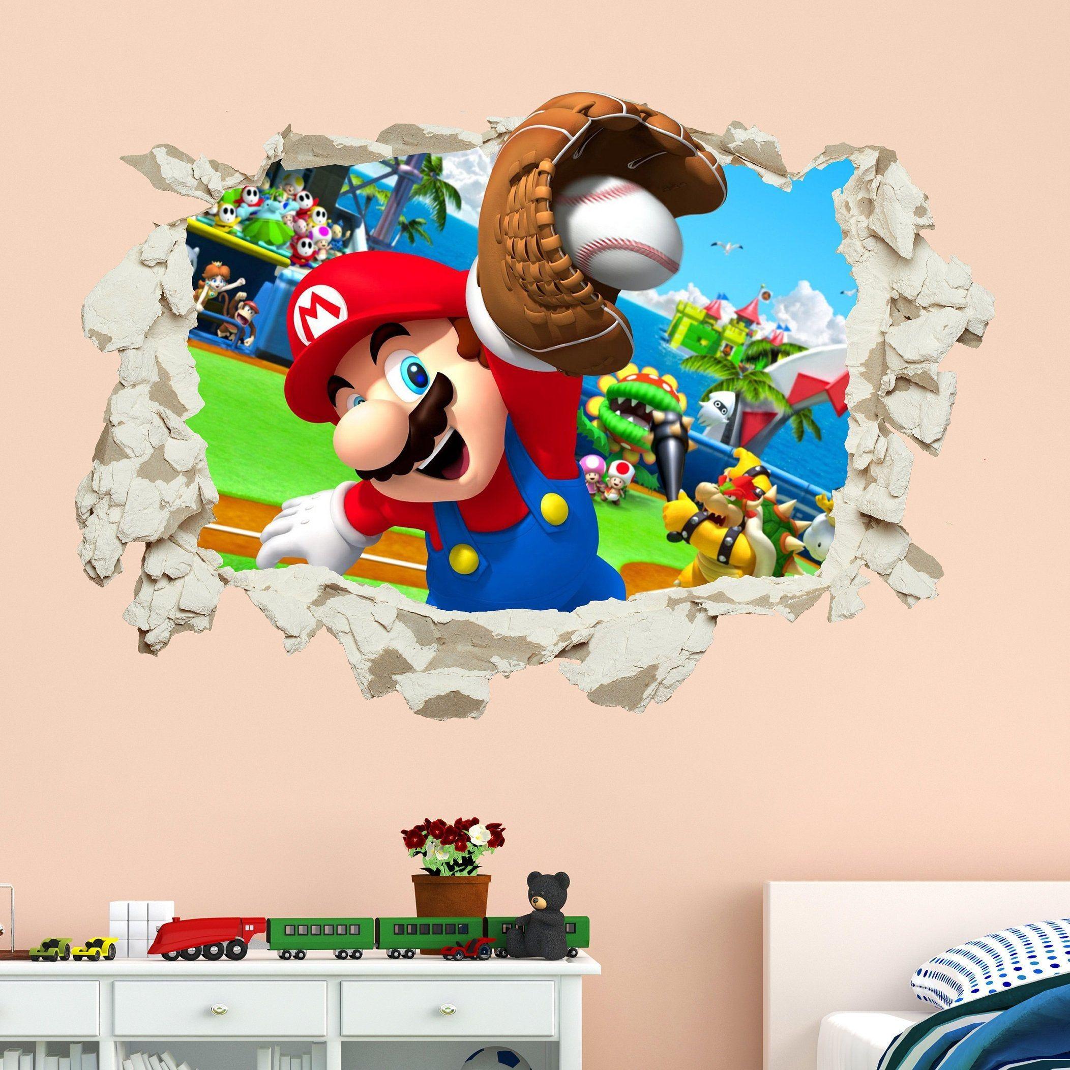 Paper Mario Sticker Wall Decal Bedroom Vinyl Kids Art Decor Bedroom