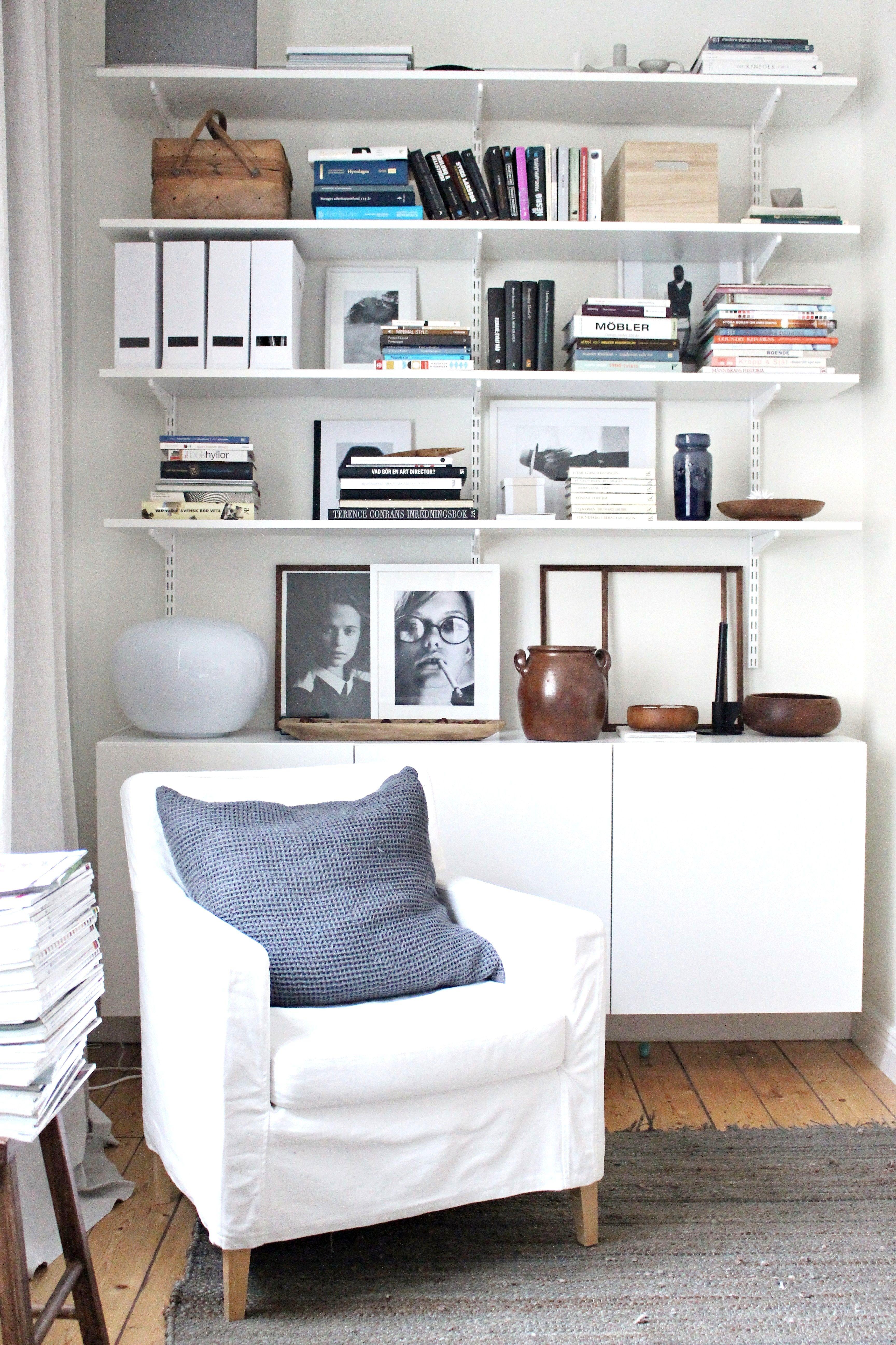 Ikea Besta Cabinet U0026 Algot Shelves Von 1 Zimmer Wohnung Einrichten Ikea  Schema
