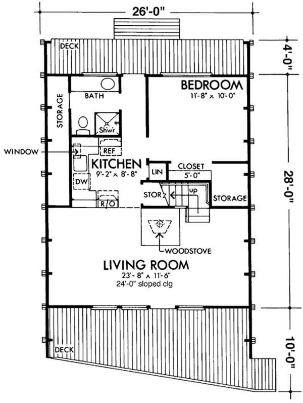 Floor Plan First Story · A Frame House ...