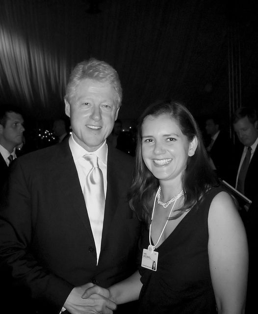 Great discussion, great leaders. Here with Bill Clinton at the World Economic Forum meeting in Jordan