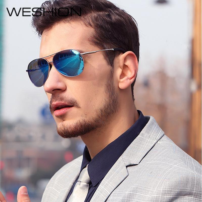 bd91cb1778c7f WESHION Aviator Sunglasses Men Polarized Women Day Driving Sun glasses Women  Brand Designer Classic UV40 Gafas