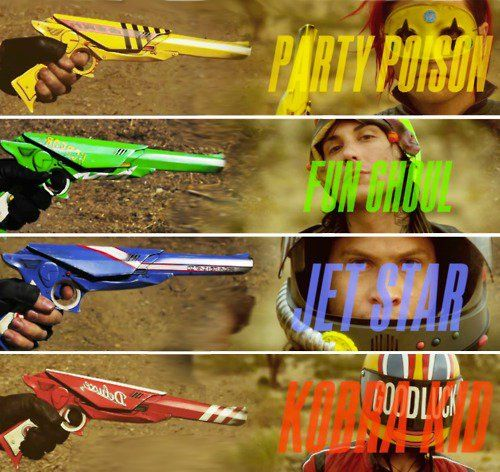 Party Poison (Gerard), Fun Ghoul (Frank), Jet Star (Ray), and Korba Kid (Mikey) - MCR