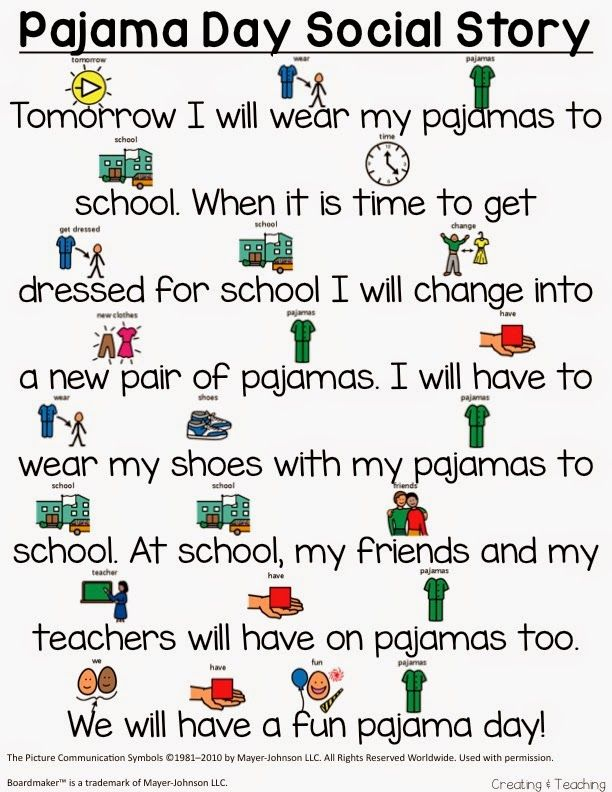 f35554ea70 Pajama Day Story (from Creating   Teaching) More