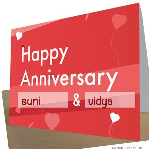 Specially Name Wishes Wedding Anniversary Card Image Wedding