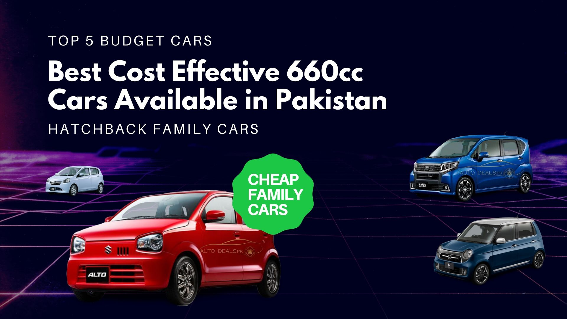 Best cost Effective 660cc Cars Available in Pakistan in