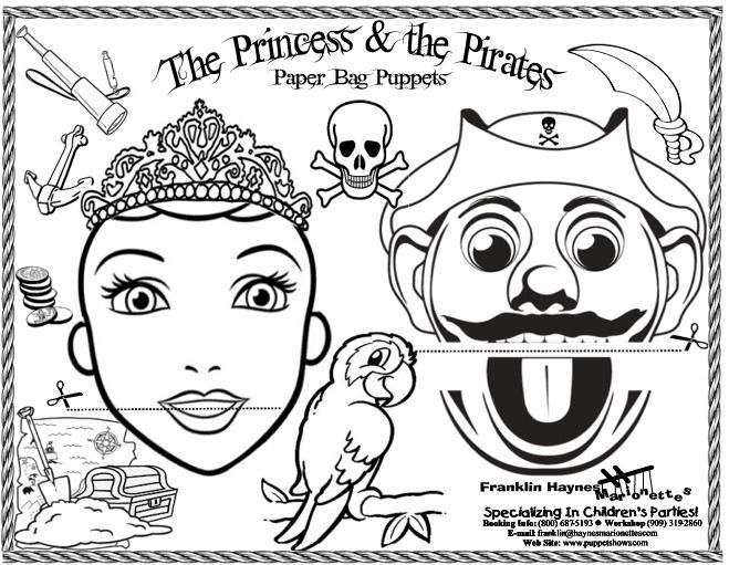 Coloring Sheets Paper Bag Puppets Coloring Pages Paper Bag Crafts