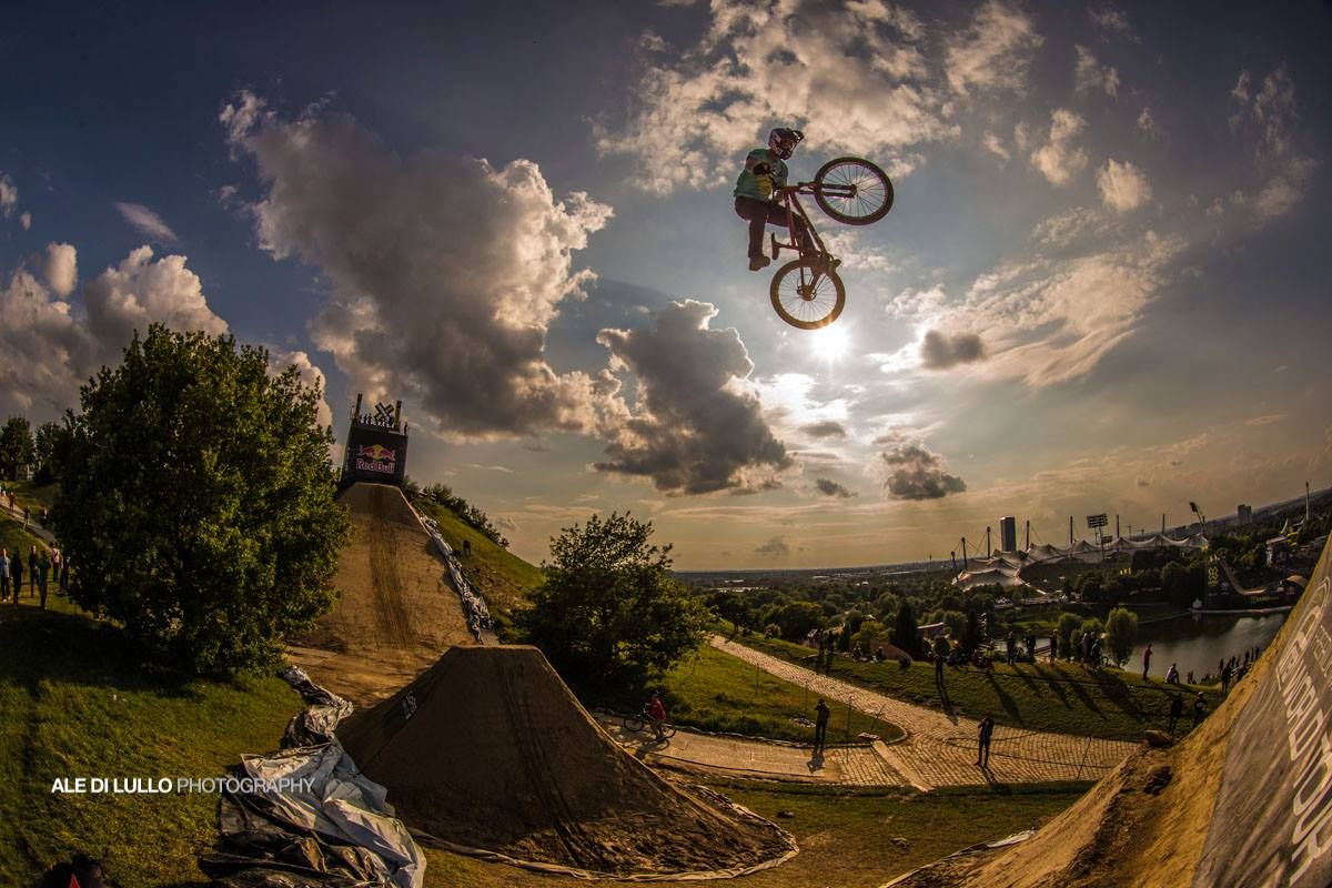 Flying bikes! Darren Berrecloth at X Games Mountain Bike